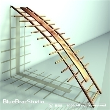 orthopaedic wall bars 3d model 3ds dxf c4d obj 89892
