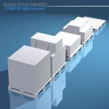 pallets with boxes 3d model 3ds dxf obj 78631