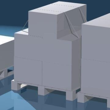 pallets with boxes 3d model 3ds dxf obj 78633