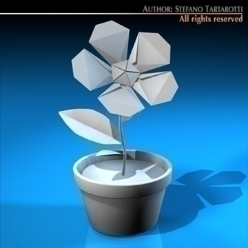 paper flower 3d model 3ds dxf c4d obj 96174