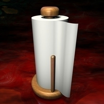 paper towel holder.zip 3d model 3ds dxf fbx c4d other obj 83709