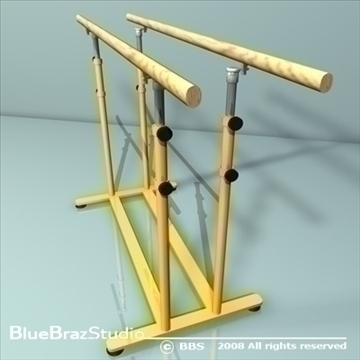 parallel bars 3d model 3ds dxf c4d obj 89882