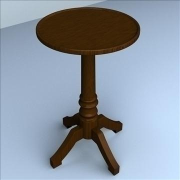 pedestal table 3d model 3ds max lwo hrc xsi obj 106257