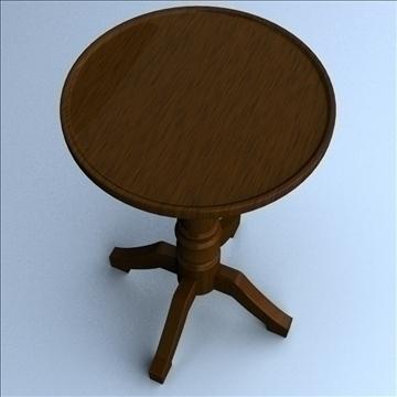 pedestal table 3d model 3ds max lwo hrc xsi obj 106258