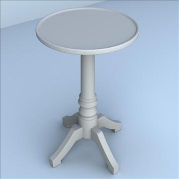 pedestal table 3d model 3ds max lwo hrc xsi obj 106260