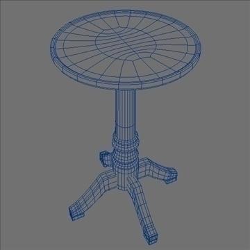 pedestal table 3d model 3ds max lwo hrc xsi obj 106261