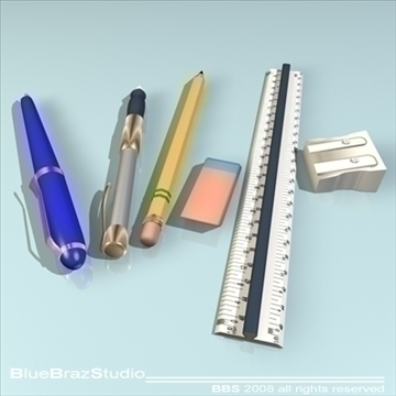 pens 3d model 3ds dxf c4d obj 94059
