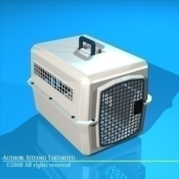 pet cage 3d model 3ds dxf c4d obj 89648