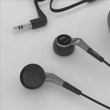 philips earphones 3d model 3dm obj other 100256