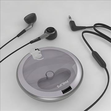 philips earphones 3d model 3dm obj other 100258