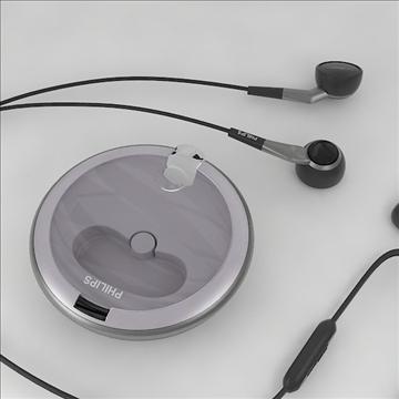 philips earphones 3d model 3dm obj other 100259
