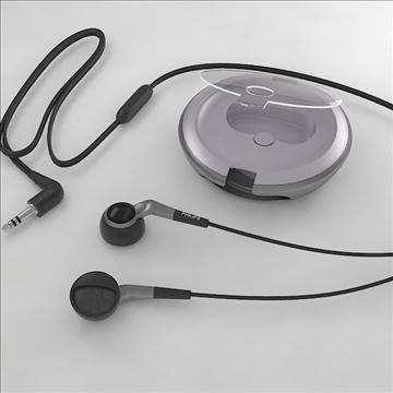 philips earphones 3d model 3dm obj other 100261