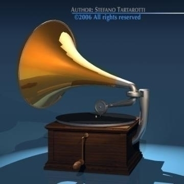 phonograph 3d model 3ds dxf obj 78654 arall
