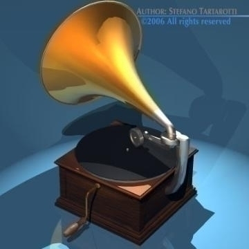 phonograph 3d model 3ds dxf obj other 78658
