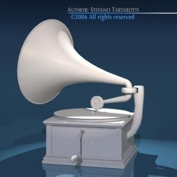 phonograph 3d model 3ds dxf obj other 78659