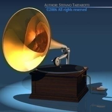 phonograph 3d model 3ds dxf obj other 78660