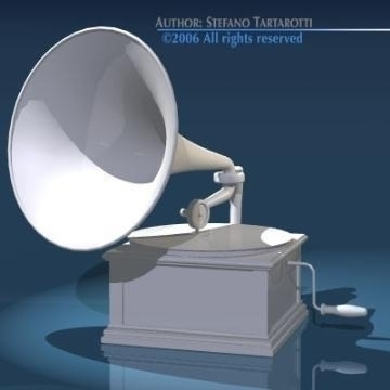 phonograph 3d model 3ds dxf obj other 78661