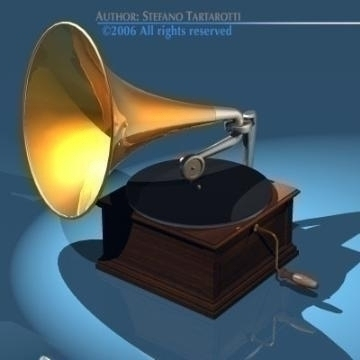 phonograph 3d model 3ds dxf obj other 78662