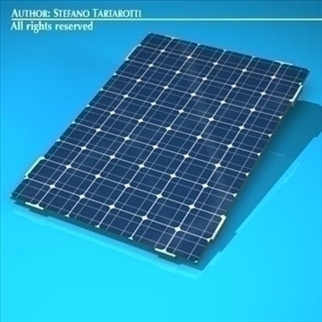 photovoltaic module 3d model 3ds dxf c4d obj 98223