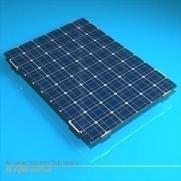 Photovoltaic module 3d model 3ds dxf c4d obj 98225