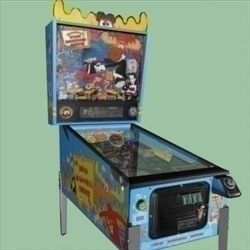 pinball machine collection 3d model max 96042