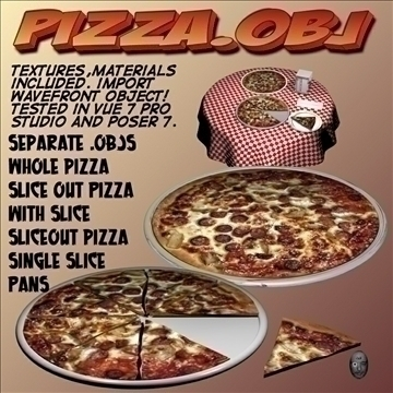 pizza.obj 3d model obj 104915