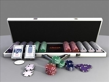 poker chip set 3d model max 84150