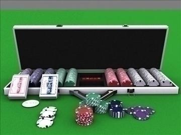 poker chip set 3d model max 84151