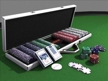 poker chip set 3d model max 84154
