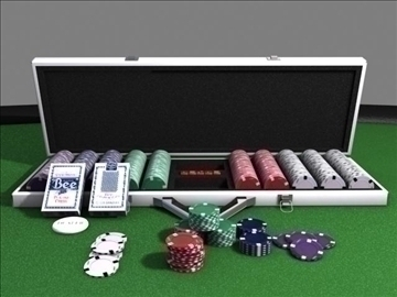 poker chip set 3d model max 84155