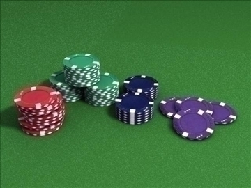 poker chip set 3d model max 84158