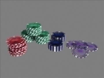 poker chip set 3d model max 84159