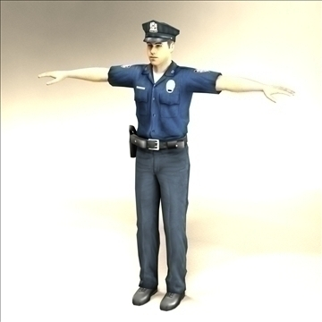 police officer 3d model 3ds max fbx lwo ma mb hrc xsi texture obj 106175
