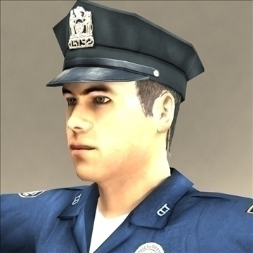 police officer 3d model 3ds max fbx lwo ma mb hrc xsi texture obj 106176