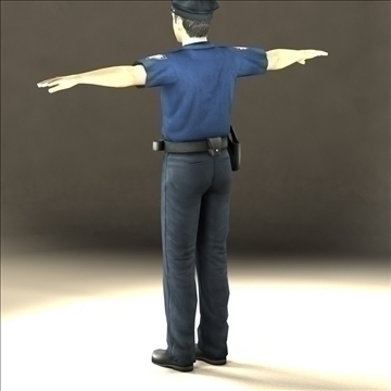 police officer 3d model 3ds max fbx lwo ma mb hrc xsi texture obj 106177