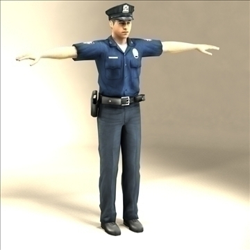police officer 3d model 3ds max fbx lwo ma mb hrc xsi texture obj 106178