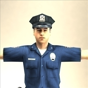 police officer 3d model 3ds max fbx lwo ma mb hrc xsi texture obj 106180
