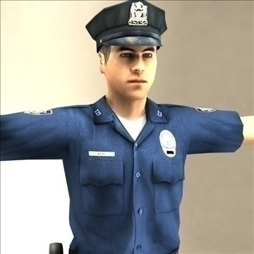 police officer 3d model 3ds max fbx lwo ma mb hrc xsi texture obj 106183
