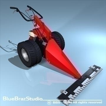 power-mower 3d model 3ds dxf c4d obj 91249