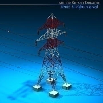 power tower 3d model 3ds dxf c4d obj 77827