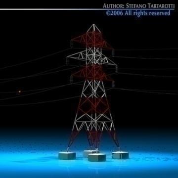power tower 3d model 3ds dxf c4d obj 77829