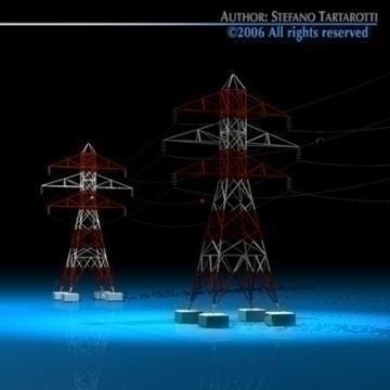power tower 3d model 3ds dxf c4d obj 77830