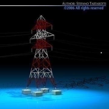power tower 3d model 3ds dxf c4d obj 77832