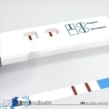 pregnancy test 3 3d model 3ds dxf c4d obj 107641