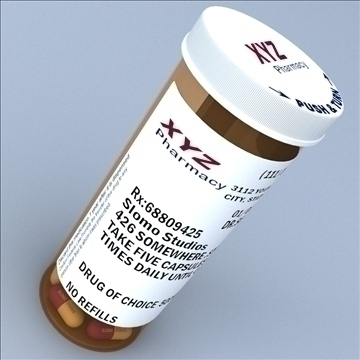 prescription bottle and pill 3d model 3ds max lwo hrc xsi obj 99800