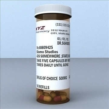 prescription bottle and pill 3d model 3ds max lwo hrc xsi obj 99802