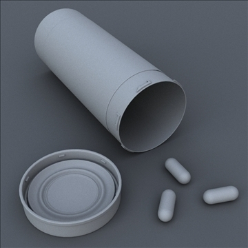 prescription bottle and pill 3d model 3ds max lwo hrc xsi obj 99806