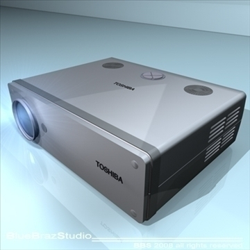 projektor 3d model 3ds dxf c4d obj 109933