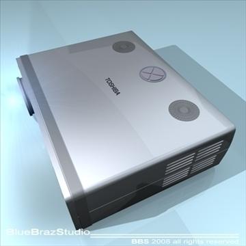 projektors 3d modelis 3ds dxf c4d obj 109934