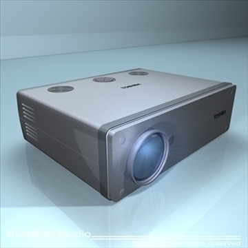 projektors 3d modelis 3ds dxf c4d obj 109935